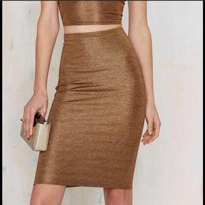 R100 Metallic slide skirt